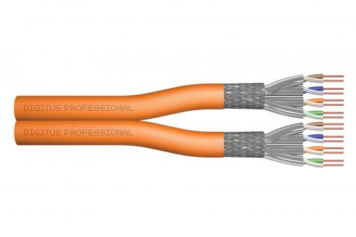 Cat.7 S/FTP installation cable, 100 m, duplex, Dca