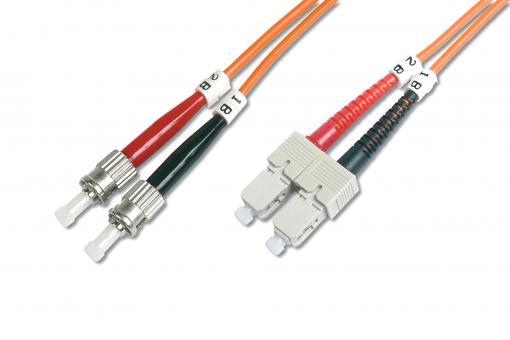 Cable de conexión de fibra óptica multimode, ST/SC