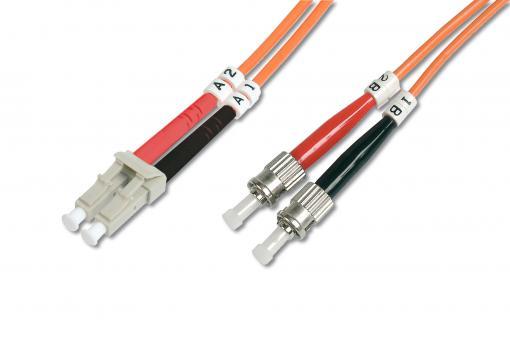 Cable de conexión de fibra óptica multimode, LC/ST