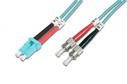 Fiber Optic Multimode Patch Cord, OM 3, LC / ST