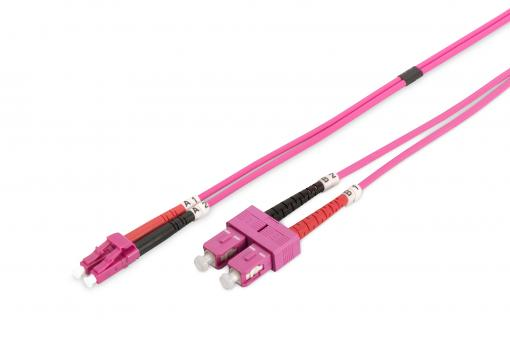 Fiber Optic Multimode Patch Cord, OM4, LC / SC
