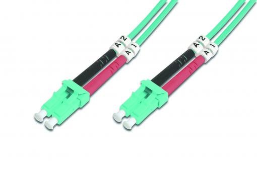Fiber Optic Multimode Patch Cord, OM 3, LC / LC