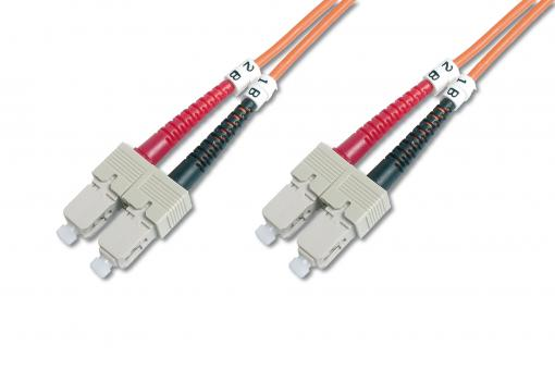 Cable de conexión multimode de fibra óptica, SC/SC