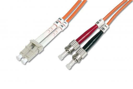 Fiber Optic Multimode Patch Cord, LC / ST