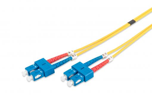 Fiber Optic Singlemode Patch Cord, SC / SC