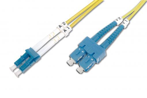 Światłowodowy kabel krosowy jednomodowy SC (APC) na LC (PC)