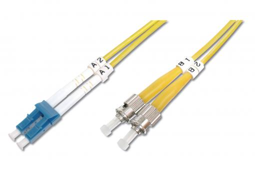 Fiber Optic Singlemode Patch Cord, LC / ST