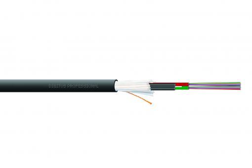 Verlegekabel Innen/Außen A/I-DQ (ZN) BH 50/125 µ OM3, 48 Fasern, BauPVO Dca, LSZH