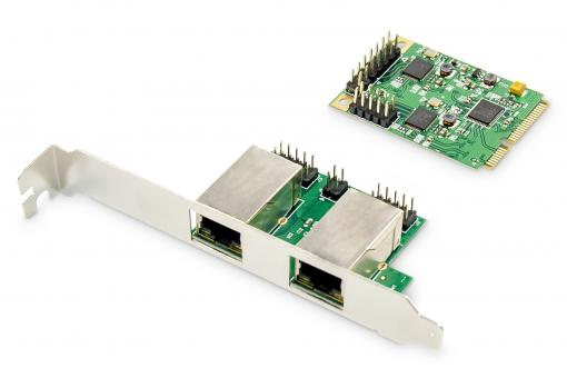 Dual Gigabit Ethernet Mini PCI Express Network Card