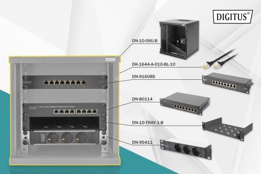 "Netzwerk-Set 254 mm (10"") - 6HE, 312 x 300 mm (B x T)"