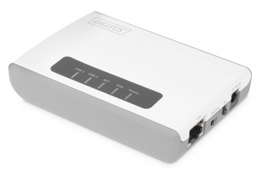2-Port USB 2.0 Wireless Multifunction Network Server, 300 Mbps