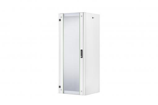 """Szafa sieciowa stojąca Hyper 19"""" 32U rack 600x600, drzwi przód szyba, szary, 600kg"""