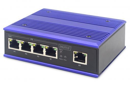 Przemysłowy, szybki 5-portowy przełącznik Ethernet