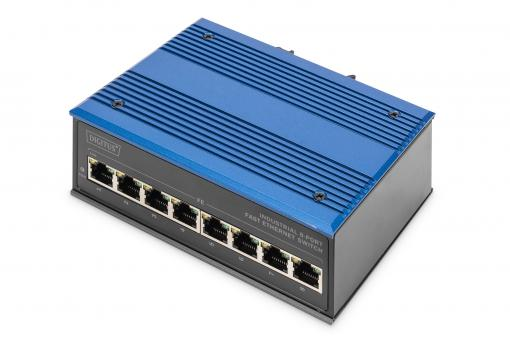 Industrial 8 Port Fast Ethernet Switch, Unmanaged