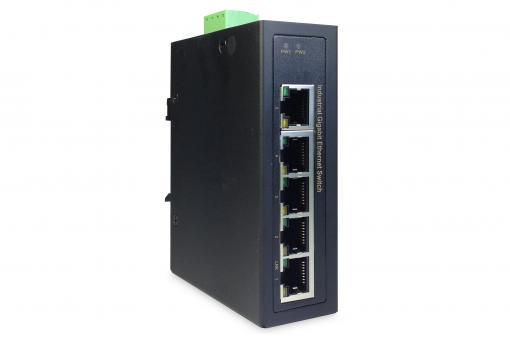 Industrial 5-Port Gigabit Switch, Unmanaged