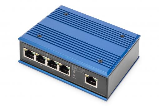 Industrial 5 Port Gigabit Switch, Unmanaged