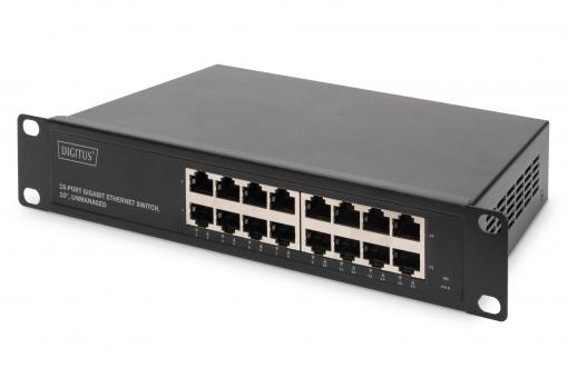 16 Port Gigabit Switch, 10 Inch, Unmanaged