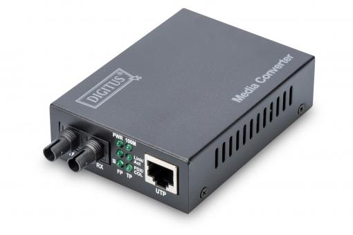 Fast Ethernet Media Converter, RJ45 / ST