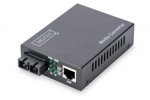 Fast Ethernet Media Converter, RJ45 / SC