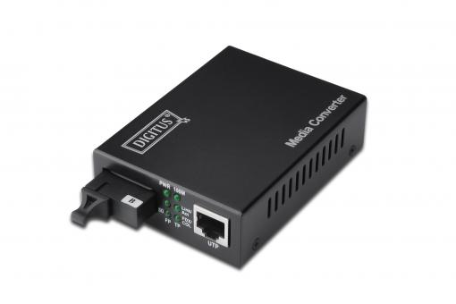 Bidirectional Fast Ethernet Media Converter, RJ45 / SC