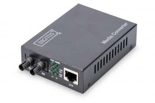 Gigabit Media Converter, RJ45 / ST
