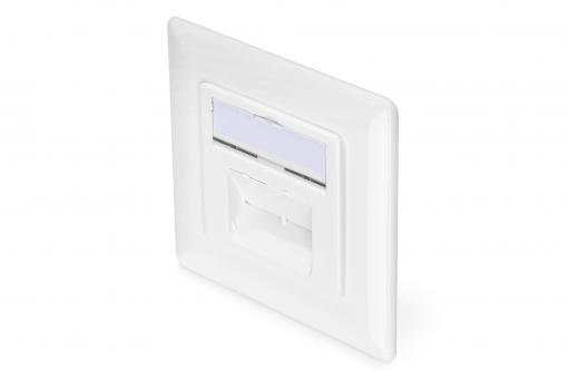 CAT 6A Class EA network outlet, design compatible, shielded, flush mount