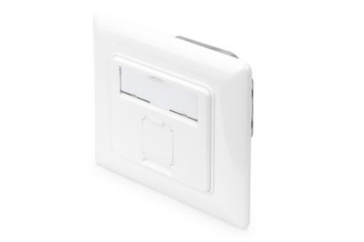 CAT 6A Class EA Network Outlet, Design-Compatible, Shielded, Flush Mount