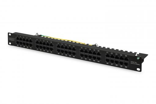 CAT 3 ISDN Patch Panel, unshielded, black