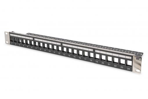 Modular Patch Panel for Keystone Jack 1U Rack Mount - Unloaded