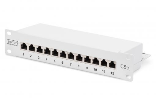 CAT 5e, Class D Patch Panel, shielded, grey