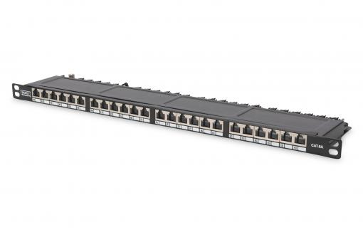 CAT 6, Class E High Denisity Patch Panel, shielded, black