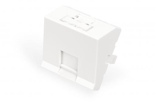 Frontplatte, 1-Port, 45 x 45 mm, abgewinkelt, für Rahmen DN-93802-5-SH