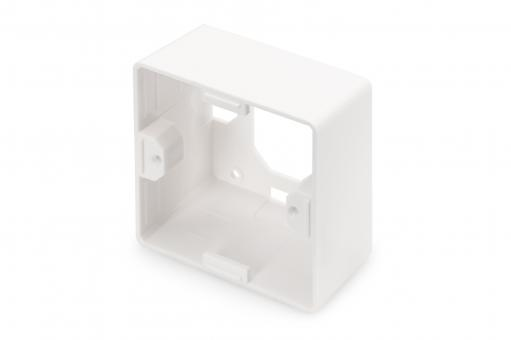 Surface Mountbox 80x80 mm for Keystone Walloutlet, German Type