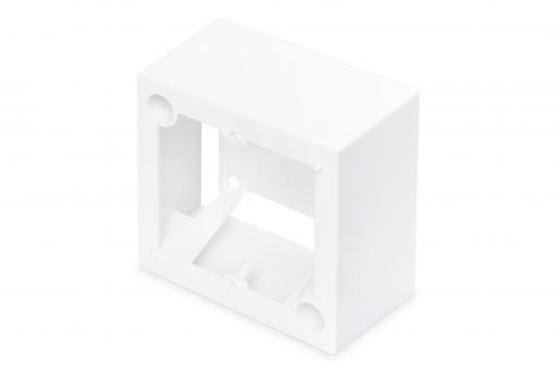Caja de montaje en superficie para tomas de corriente de 80 x 80 mm, tipo francés