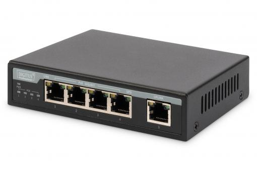 4 Port Gigabit PoE Switch, Unmanaged, 1 Uplink