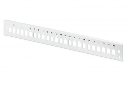 Fiber Optic Splice Box Front Panel, quick lock, 24x LC DX, SC SX, E2000 SX