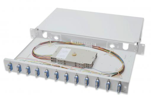 Fiber Optic Splice Box, Equipped, SC, OS2