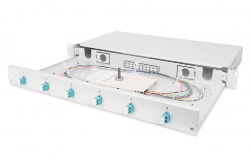 Fiber Optic Splice Box, Equipped, LC, OM3