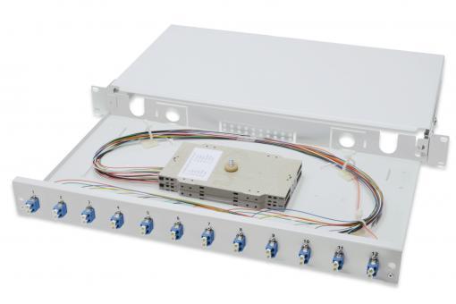Panel światłowodowy, z wyposażeniem, LC, OS2
