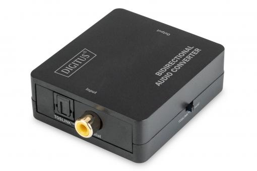 Bidirectional Audio Converter, Coaxial/TOSLINK™, digital
