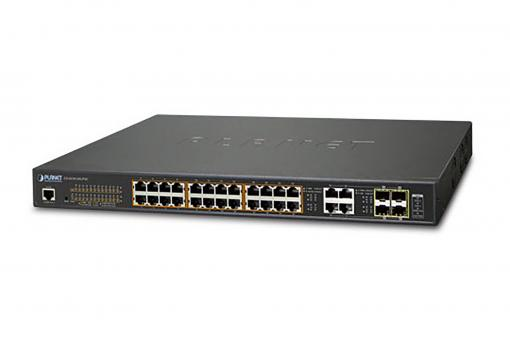 24-Port 10/100/1000T Ultra PoE + 4-Port Gigabit TP/SFP Combo Managed Switch