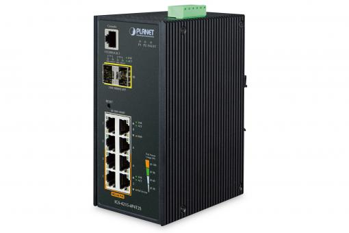Industrial 4-Port 10/100/1000T 802.3at PoE + 4-Port 10/100/1000T + 2-Port 100/1000X SFP Managed Switch