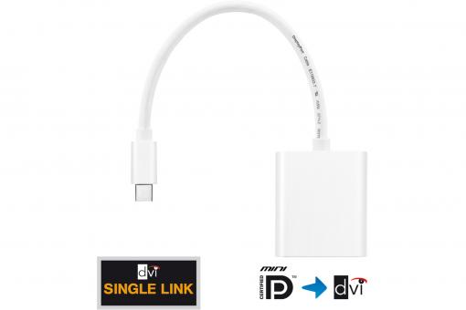 IS020 - Mini DP + Thunderbolt to DVI Adapter