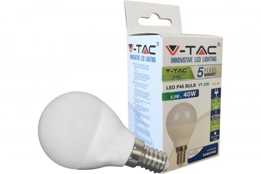 LED Bulb - 5,5W E14 Warm White 180°