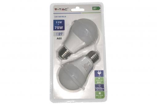 LED Bulb - 11W E27 Warm White 200° Set