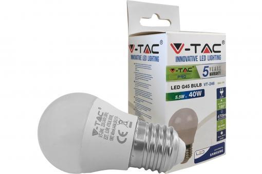 LED Bulblight E27 5,5W 180°