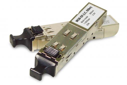 SFP-Port 1000Base-SX mini-GBIC module (1310nm, LC, Multi-Mode), 2 km