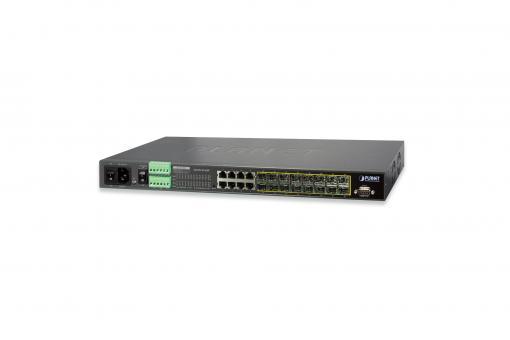 16-Port Gigabit Switch, 19 Zoll, Managed, 8 Uplinks