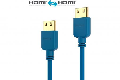 HDMI Cable - PureInstall - Slim 1,00m - Blue