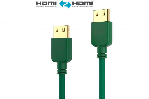 HDMI Cable - PureInstall - Slim 1,00m - Green